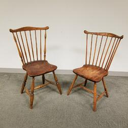 Two Fan-back Windsor Side Chairs