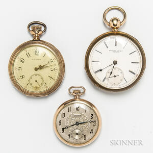 Three Gold-filled Open-face Pocket Watches