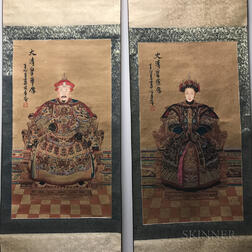 Pair of Printed Imperial Portraits