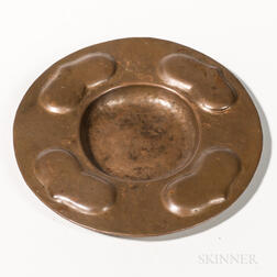 Gustav Stickley Hammered Copper Dish