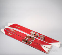 Three Painted Wood Vintage Water Skis