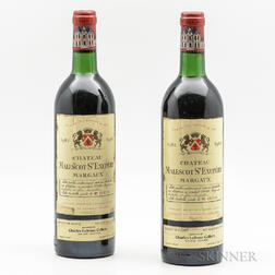 Chateau Malescot St. Exupery 1982, 2 bottles
