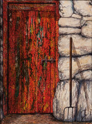 John Verling (Irish, 1943-2009)      Red Door and Sprong