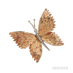 18kt Gold and Diamond Butterfly Brooch, Tiffany & Co.