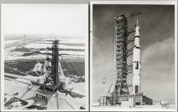 Apollo 4, August-October 1967, Three Photographs of the Saturn V Rocket.