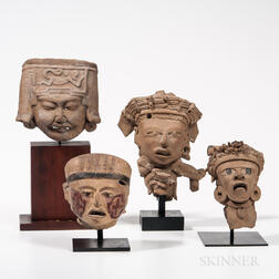 Four Veracruz Head Fragments