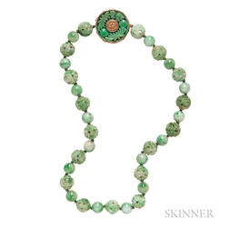 14kt Gold and Jade Necklace