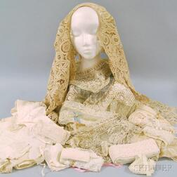 Group of Lady's Lace and Muslin Accessories