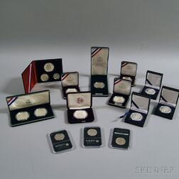 Group of Silver U.S. Commemorative and Proof Coins