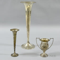 Three Sterling Silver Trophies