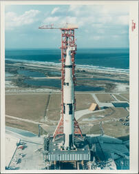 Apollo 4 on Pad, Kennedy Space Center, Florida, November 8, 1967.