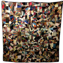 Velvet and Silk Crazy Quilt