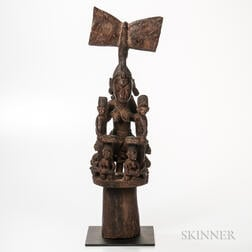 Yoruba-style Carved Wood Divination Figure