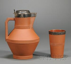Watcombe Terra Cotta Pitcher and Tumbler