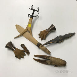 Group of Scottish Victorian Taxidermy Items