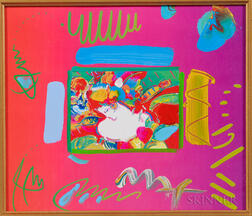 Peter Max (American, b. 1937)      Flower Blossom Lady