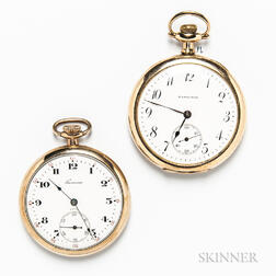 Two Gold-filled Open-face Pocket Watches