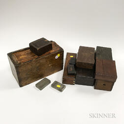 Twelve Various 19th/20th Century Boxes.     Estimate $100-200
