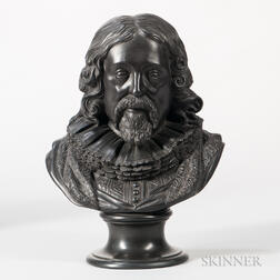 Wedgwood Black Basalt Bust of Francis Bacon