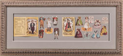General Tom Thumb and Other Diminutive Performers, Eight Framed Items.