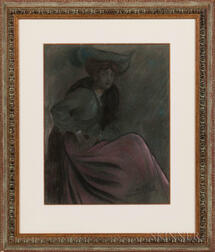 Almery Lobel-Riche (French, 1880-1950)      Femme Assise au Chapeau
