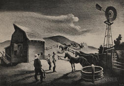 Thomas Hart Benton (American, 1889-1975)      The Corral