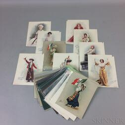 Thirty-one Turkish Trophies Cigarettes Prints of Women.     Estimate $200-250