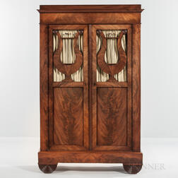 Biedermeier-style Walnut and Walnut-veneered Cabinet