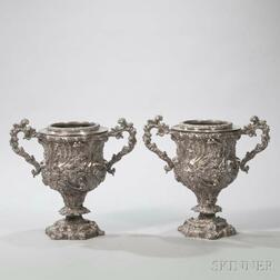 Pair of Victorian Silver-plate Wine Coolers