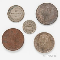 Five Russian Coins
