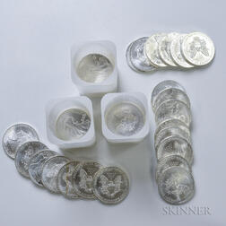 Forty-eight American Silver Eagles