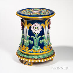 Minton Majolica Passionflower Garden Seat