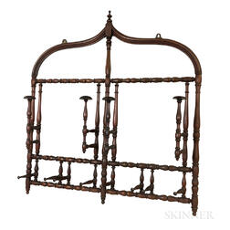 Victorian Turned Walnut Hanging Hat Rack
