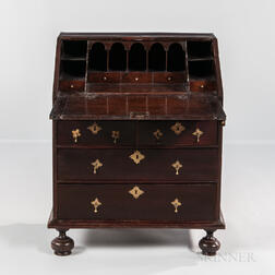 Early Spanish Brown-painted Slant-lid Desk