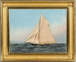 Thomas H. Willis (American, 1850-1925) and Antonio Jacobsen (American, 1850-1921)      Racing Yacht