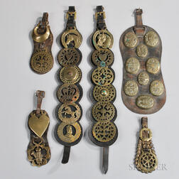 Collection of Leather-mounted Horse Brasses
