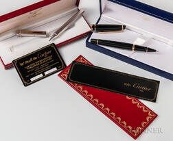 Must de Cartier Pen and Waterman Pen