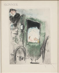 Louis Icart (French, 1888-1950)      In the Coach