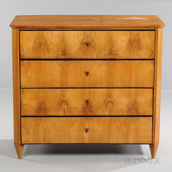 Biedermeier Maple Chest