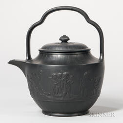 Wedgwood & Bentley Black Basalt Punch Pot and Cover