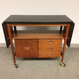 Heritage Teak and Formica Bar Cart