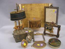 Eleven Decorative Gilt-metal and Giltwood Table Items