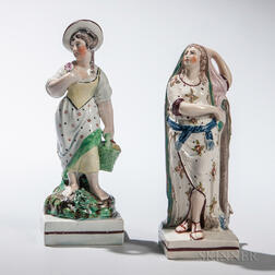 Two Staffordshire Neale-type Earthenware Figures