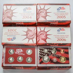 Twenty-nine Early 2000s U.S. Mint Silver Proof Sets.     Estimate $400-600