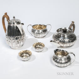 Six-piece George III Sterling Silver Tea and Coffee Service