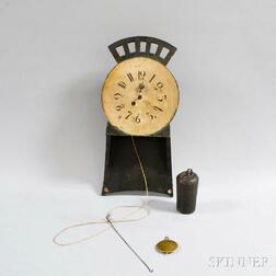 Painted Pine Wag-on-wall Clock