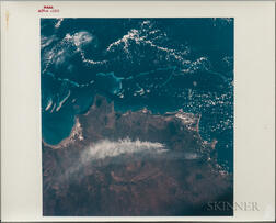Apollo 7, Earth-Sky View, Great Barrier Reef, October 19, 1968.