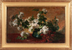 Charles Étienne Corpet (French, 1831-1903)      Still Life with Bountiful White Roses