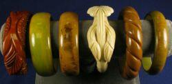 Group of Six Bakelite Bangles