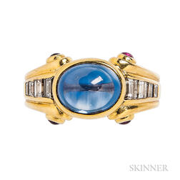18kt Gold, Sapphire, and Diamond Ring, Bulgari